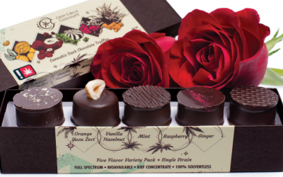 Crop Circle Chocolates Valentine's Ad for Oregon Leaf