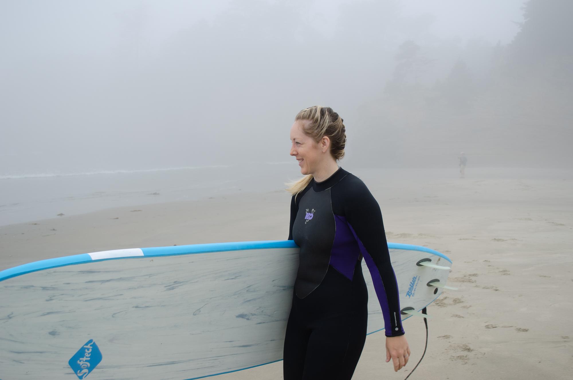 Erica Surfing
